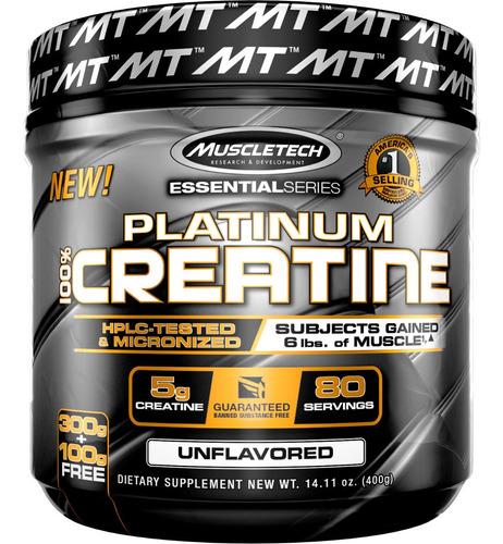 creatina muscletech 400 gr (mercado envíos a tu cargo)