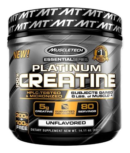 creatina platinum 400 gr muscletech crecimiento musculo gym