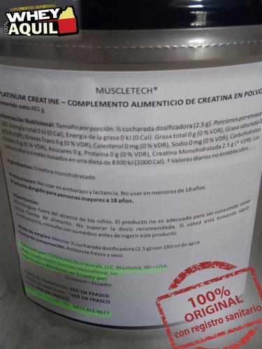 creatina platinum alta calidad 400gr eeuu + gratis
