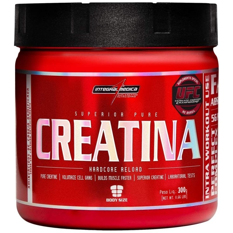 27ba7178f Creatina Pure Hardcore Integralmédica 300g Linha Top - R  35