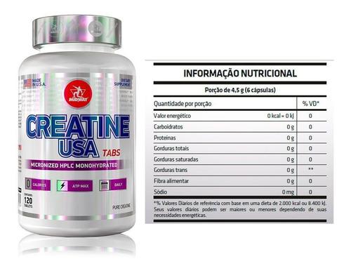 creatina usa 120 capsulas - midway