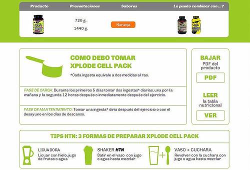creatine cell pack 1440 grs. htn l-glutamina taurina ginseng