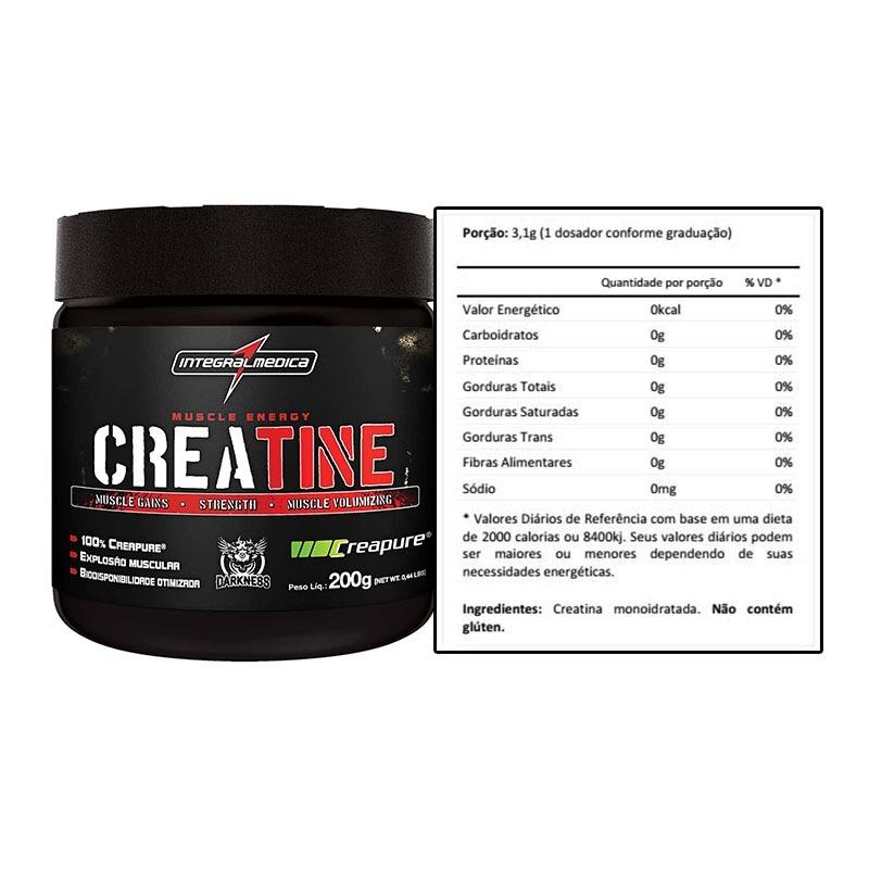 c249ab129 creatine creapure darkness (200g) - integral medica. Carregando zoom.