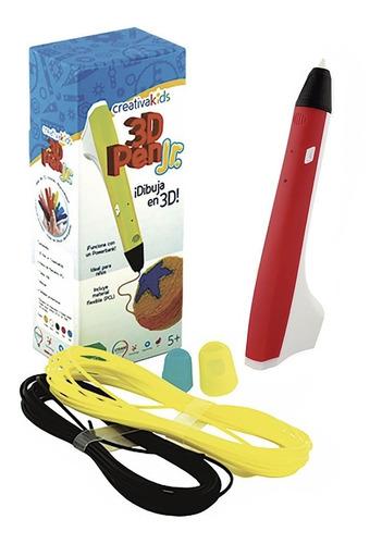 creativakids - 3d pen jr rojo - pluma 3d