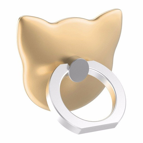 creative case holder anillo gato, dorado - barulu