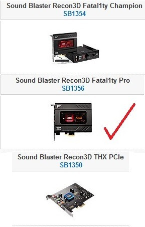 creative sound blaster recon3d thx pcie fatal1ty pro sound