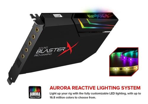 creative sound blasterx ae-5 tarjeta de sonido pcie 3.5mm