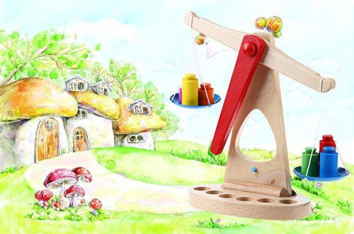 creativo balanza de madera juguetes montessori de aprendizaj