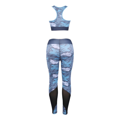 creativo diseño de moda ronda collar impresión yoga traje