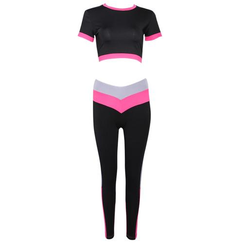 creativo diseño sports traje patchwork superior pantalones