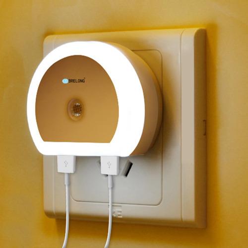 creativo interruptor de luz con doble usb