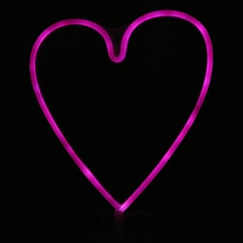 creativo led en forma de corazón de neón, luz de noche,