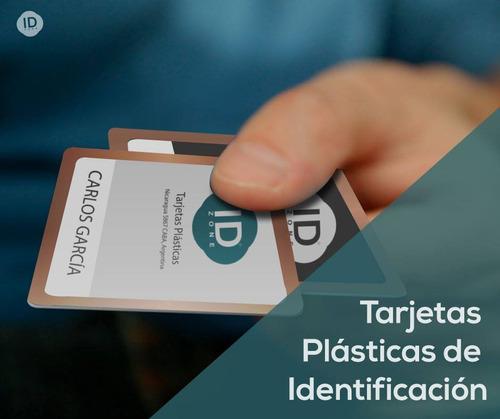 credenciales de pvc tarjetas plásticas identificación
