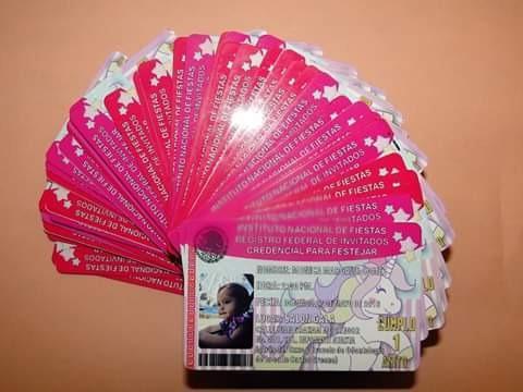 credenciales para invitaciones para todo tipo d eventos