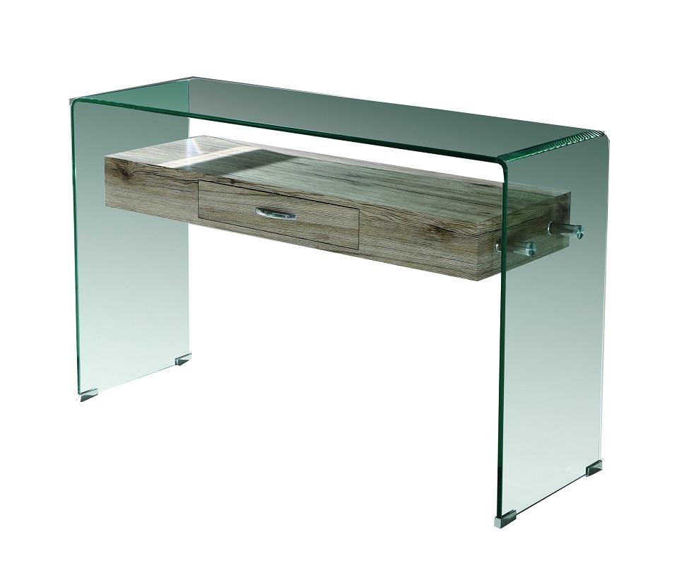 Credenza Con Vidrio : Credenza cristal y madera acabado vintage emma by promobel