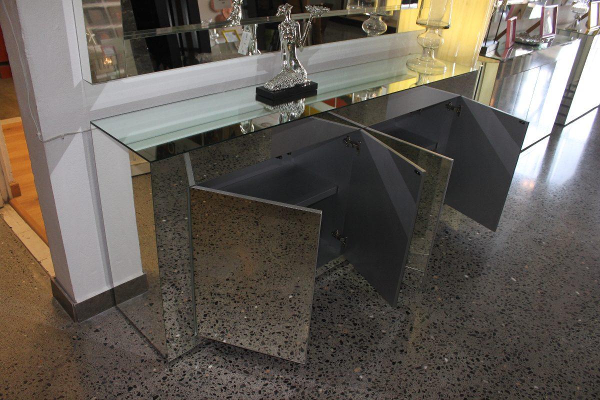 Credenza De Madera Con Espejo : Credenza mesa grapa consola bufetera de espejo gde