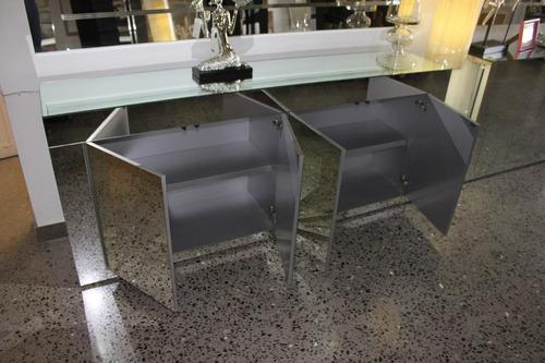 credenza , mesa, grapa, consola, bufetera de espejo gde