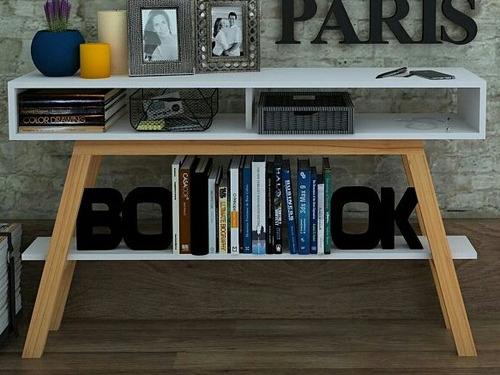 credenza, mesita de entrada, recibidor y librero minimalista