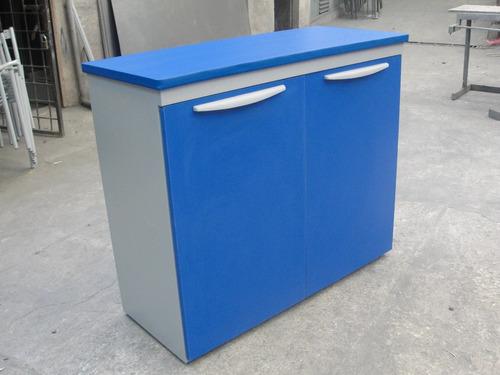 credenza para bene estructura metálica y madera para oficina