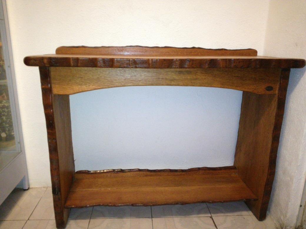 Credenza De Madera Rustica : Mesa vintage recibidor madera rustica coqueta credenza