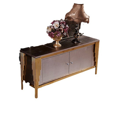 credenza x958 - cobre / café këssa muebles