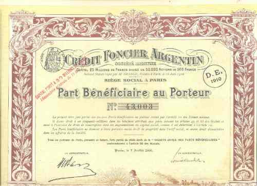 credit foncier argentin - 1906