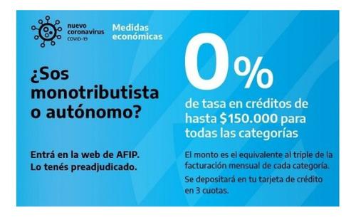 créditos tasa 0% - tasa cero para monotributista y autónomo