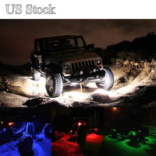 cree 8pcs led rock ligero jeep suv de atv barco... (blue)