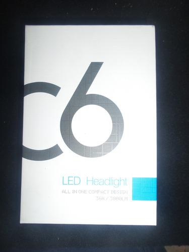 cree led generacion 6 h1, h3, h4, h7, 9006, 9007,801