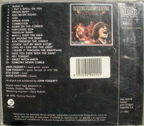 creedence clearwater revival - chronicle - cd nacional