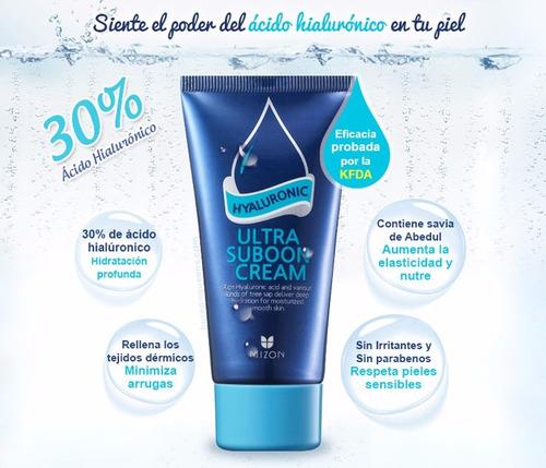crema 30% de ac. hialuronico ultra suboon mizon antiarrugas