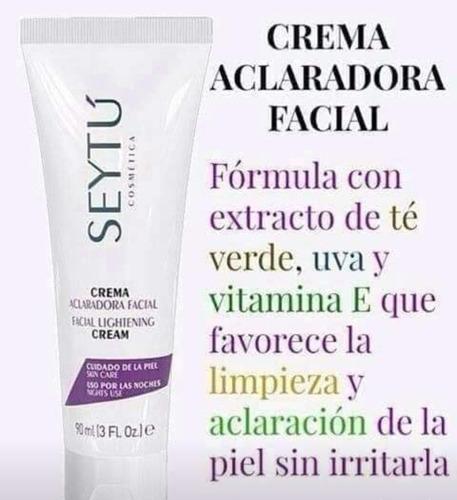 crema aclaradora facial seytú