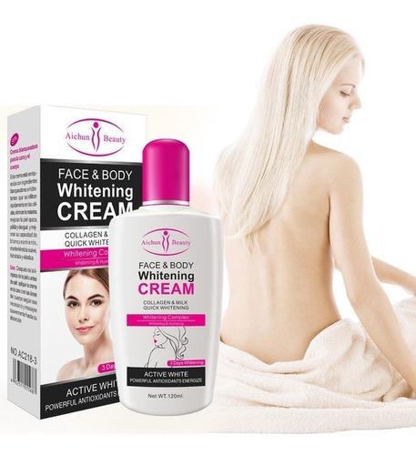 crema aclarante aichun cara y cuerpo colageno 120ml full