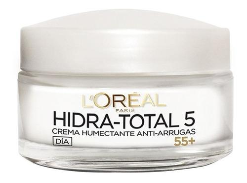 crema anti-arrugas 55+ hidratación total 5 loréal paris