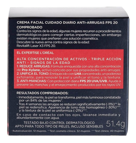 crema anti manchas l'oréal paris revitalift laser x 50ml