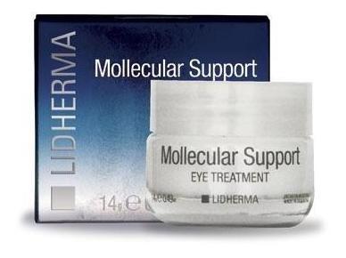 crema antiage contorno de ojos mollecular support - lidherma