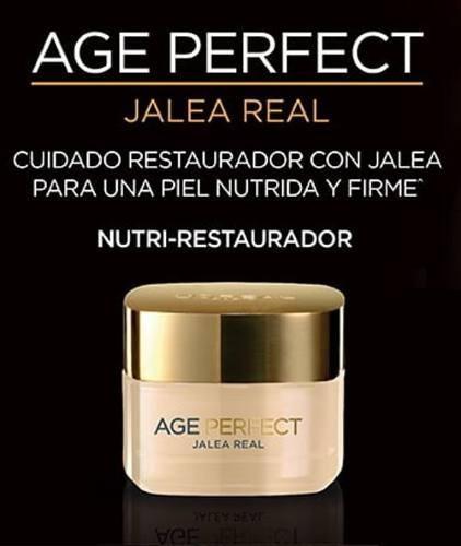 crema antiarrugas loreal age perfect cuidado dia jalea real