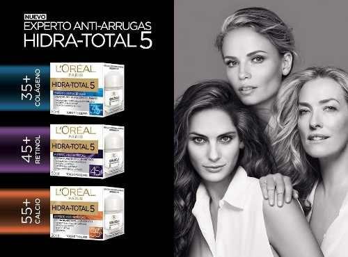 crema antiarrugas loreal hidra total 5 55+ con calcio