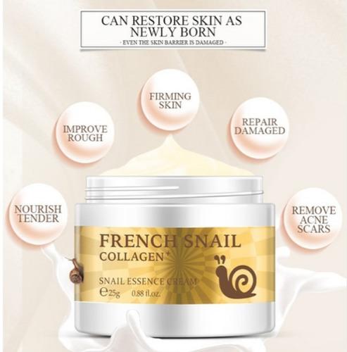 crema antiedad extracto caracol hialuronico colageno *25 g
