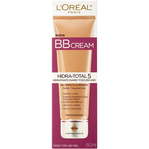crema bb cream extraordinaria hidra total 5 loreal paris