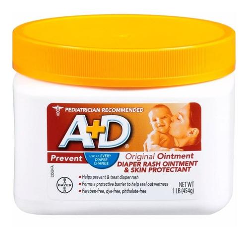 crema bebes a+d tarro grande prevencion pañalitis 454 gr