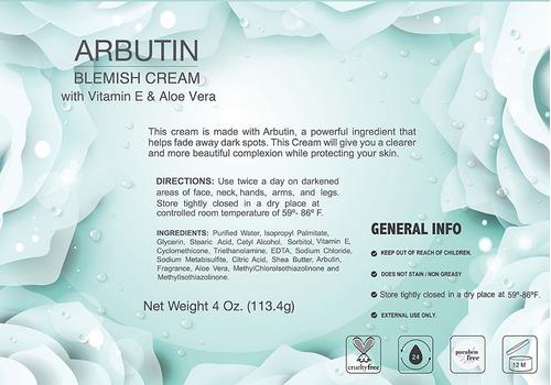 crema blanqueadora con arbutina 3 piezas