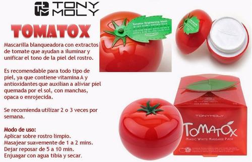 crema blanqueadora tomatox - tonymoly- kawaii atelier