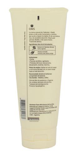 crema calendula + karite repara humecta nutre s/paraben oms