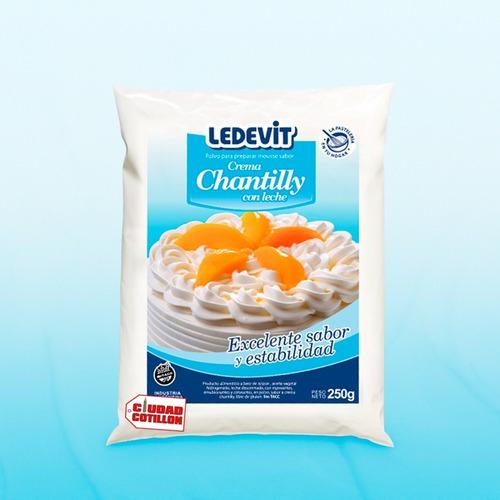 crema chantilly en polvo ledevit 250 g - ciudad cotillón