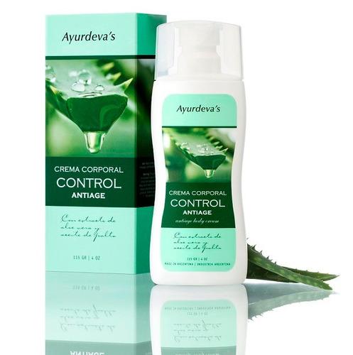 crema corporal control antiage - ayurdeva's