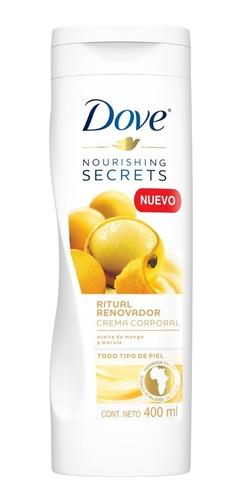 crema corporal dove nourishing secrets mango 400ml