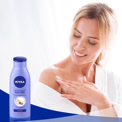 crema corporal soft milk nivea piel seca 400ml original