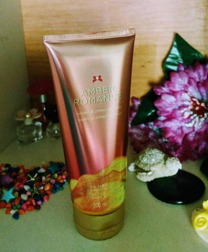crema corporal victoria's secret fragancia amber romance