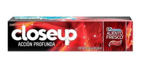 crema dental close up red hot x 90 g aliento fresco 12 horas